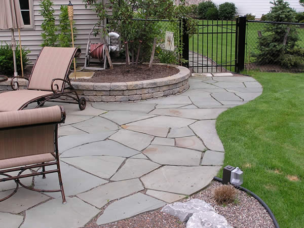 Stone Tiles For Backyard : Craft Central Slate Patio Tiles for Unique Beauty of Stone Patios