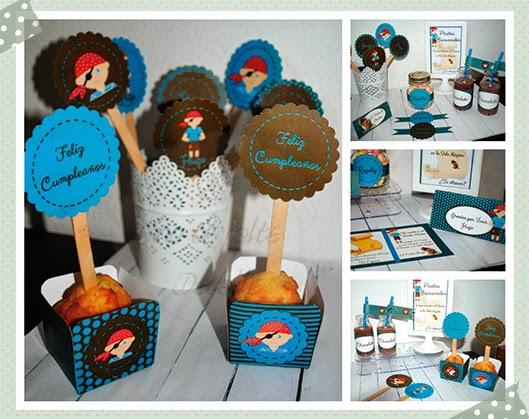 kit imprimible fiesta pirata niños
