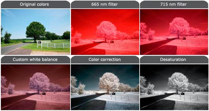 مثال  يوضح تأثير المرشح  اللوني على الصور