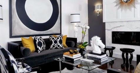Conseils d co et relooking 20 attractifs canap s noirs for Combien de couleur dans un salon