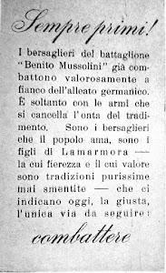 Il Battaglione Volontari Bersaglieri  Benito Mussolini