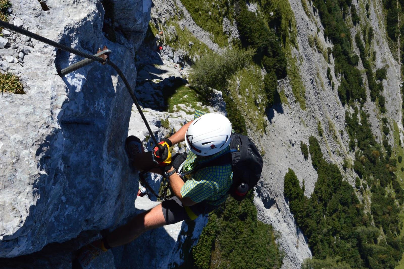 Klettersteig Tajakante : Rauf gehts !: tajakante klettersteig d e
