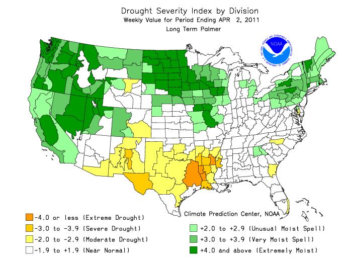 Early Warning: Texas/Oklahoma Drought in Context