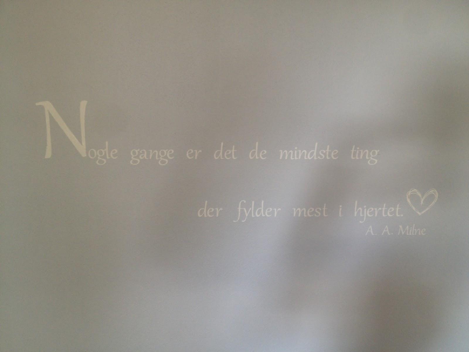 Dekoration på væggen i børneværelset
