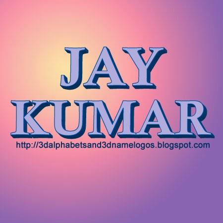 Name Sanjay Kumar Jay Kumar 3d Name Logo