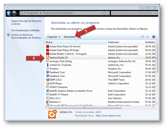 INFORMATICA DO DIA A DIA: Desinstalar um programa no windows 7