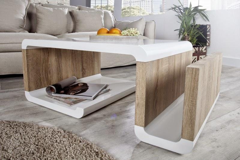 dizajnovy biely stolik do obyvacky, nabytok do interieru, moderny dizajnovy nabytok