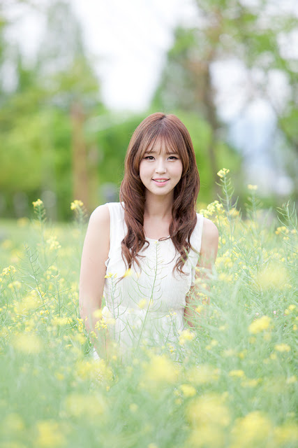 3 Choi Byeol Ha in White - very cute asian girl - girlcute4u.blogspot.com