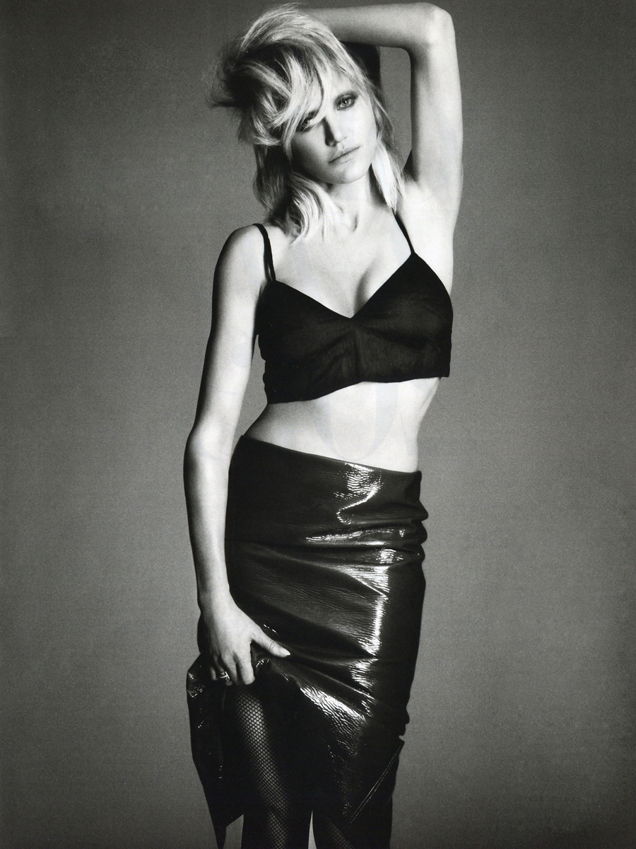 Cameron Diaz Covered Topless in Lingerie in Interview Magazine March 2013