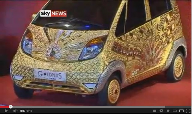 golden Tata Nano