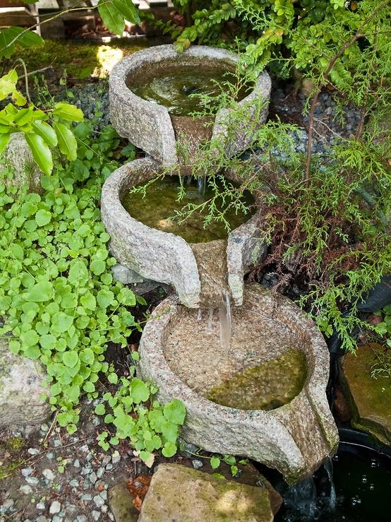 Dise o de fuentes para el jard n jard n y terrazas - Diseno de cascadas para jardin ...