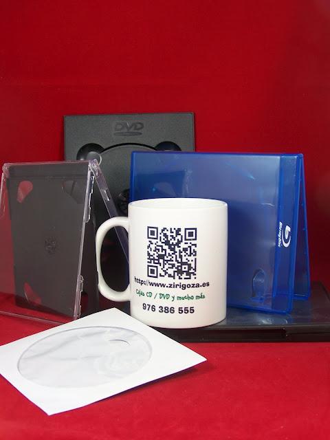 Caja CD, caja DVD, digipack, caja Blu Ray, sobre CD zirigoza.eu