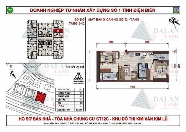 Căn 32 - Chung Cư Kim Văn Kim Lũ CT12C