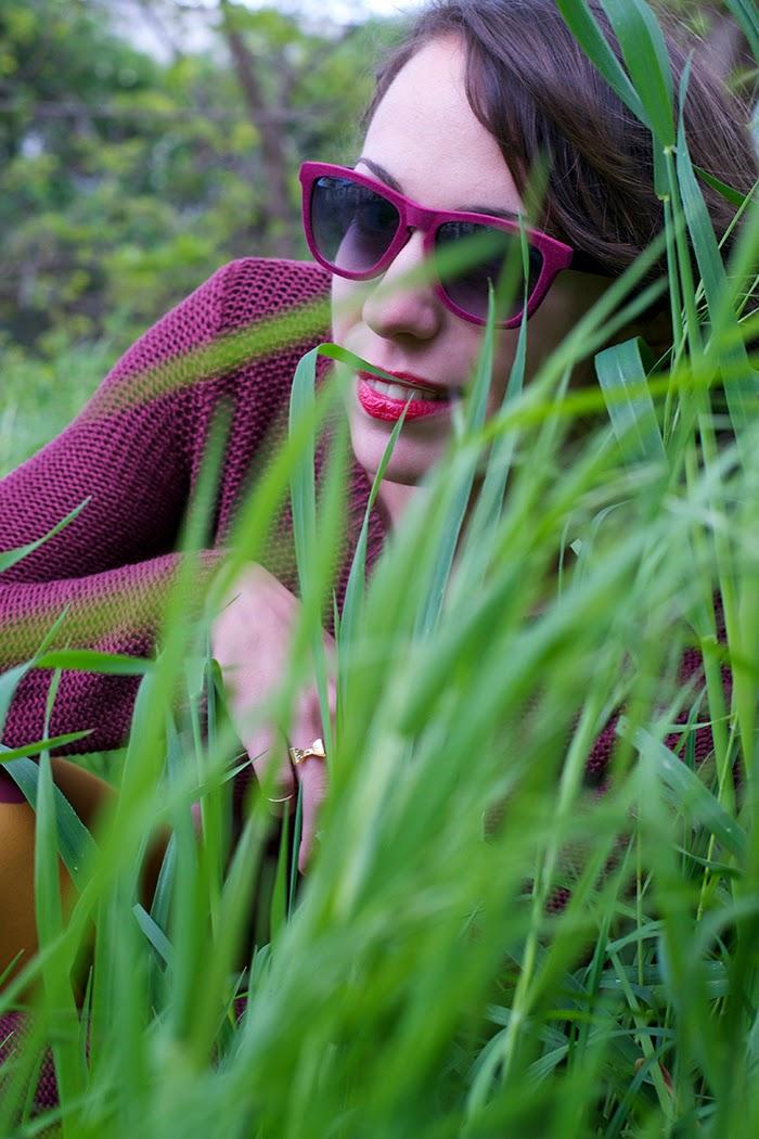 occhiali velluto rosso