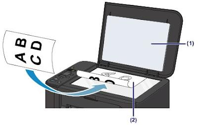 1 - открыть крышку сканера; 2 - расположить документ на стекле