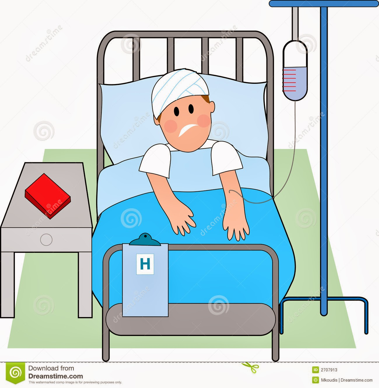Hospital Bed Cartoon The Image Kid Has It
