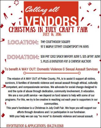 7-16 Calling All Vendors Christmas In July