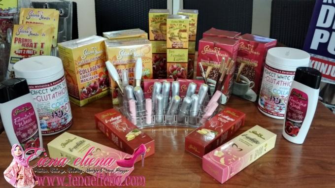 Pelbagai rangkaian produk yang di tawarkan oleh Salina'z Herbs