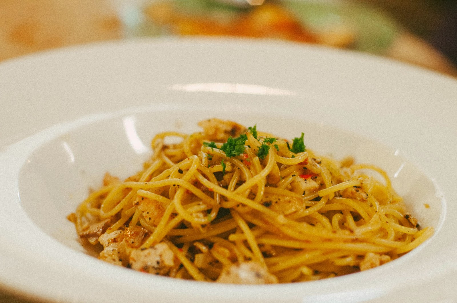 Supply and Demand menu Aglio Olio E Peperoncino (with Chicken)