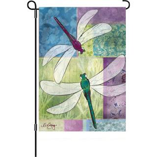 Dragonfly Duet Garden Flag