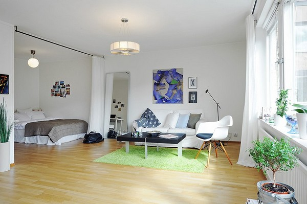 We Are Certain You Already Noticed The Alcove, Large Enough For A  King Sized Bed. This May Be A Small Apartment, But The Design Approach Used  To Enhance It ...