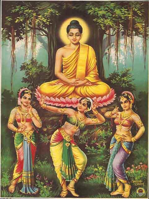 La méditation se bel outil pédagogique Buda+Mara+y+sus+hijas