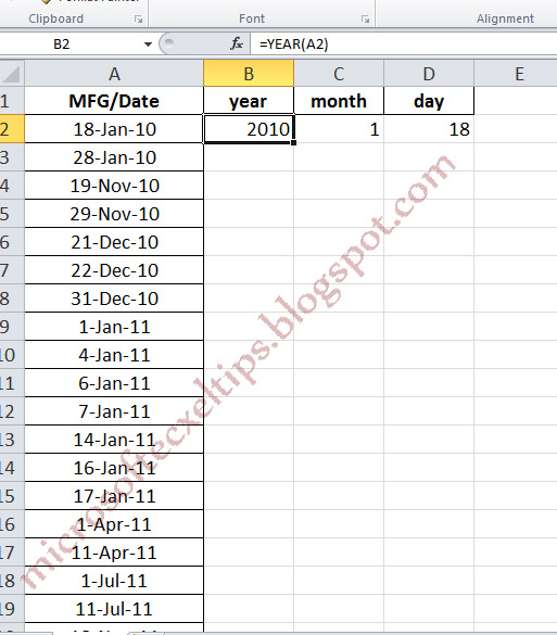 MS Excel 2003: Format the display of a date value in concatenated text