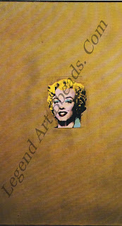 """Marilyn"" by Andy Warhol Acrylic paint and gold bronze on canvas. 1962, Museum of Modern Art (praented by Philip Johnson),"