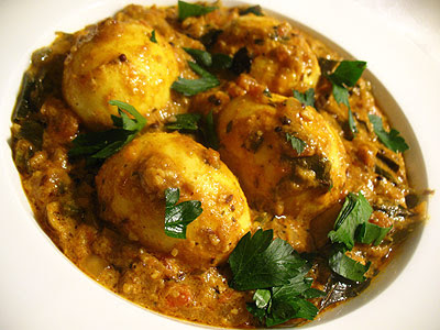 Egg Masala Curry in a Spicy Tomato Gravy