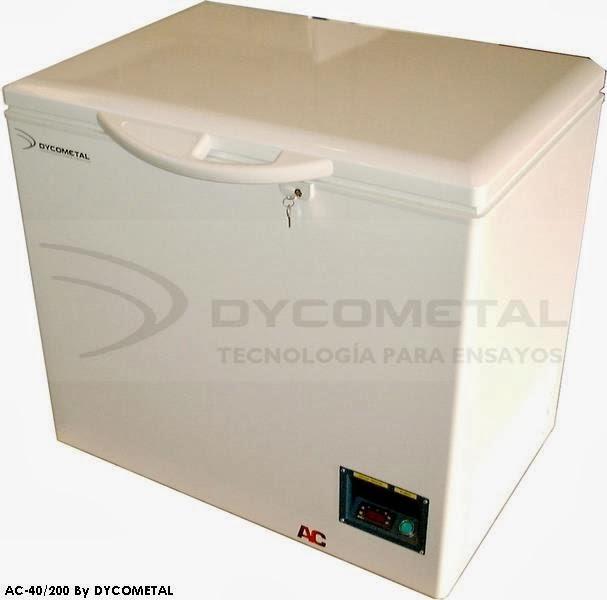Dycometal ensayos ambientales arc n congelador est tico for Arcon congelador a