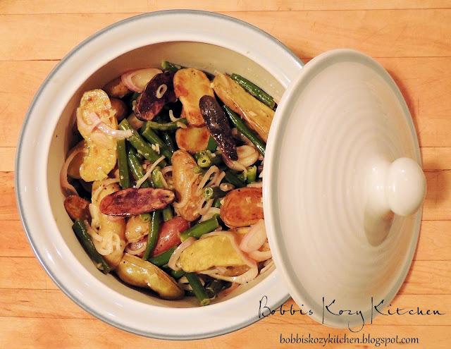 Warm Potato and Green Bean Salad for #SRC | Bobbi's Kozy ...