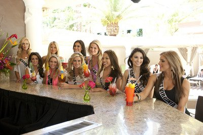 Photos of Miss USA 2011 Contestants at Flamingo Hotel pool