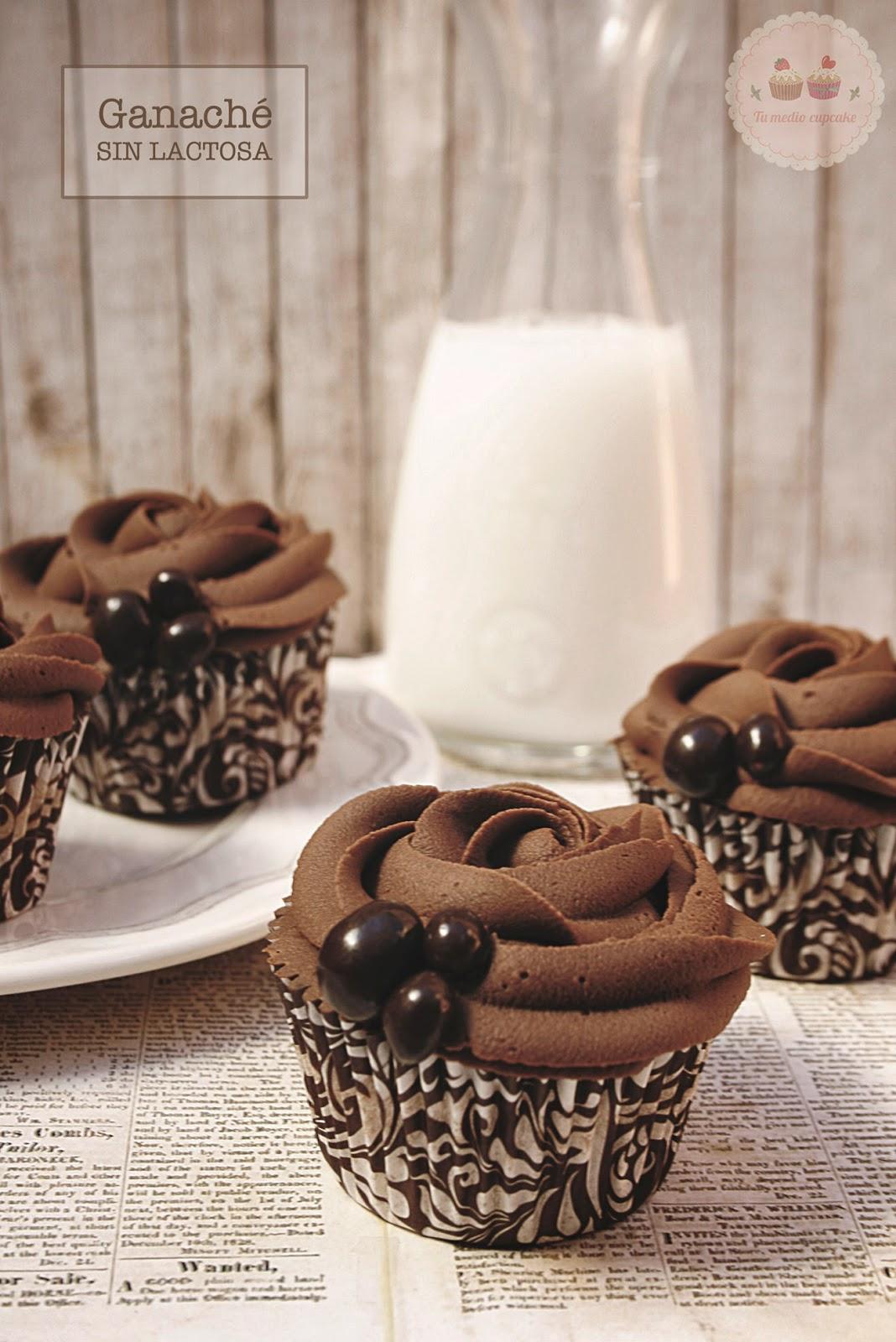 ganache de chocolate sin lactosa