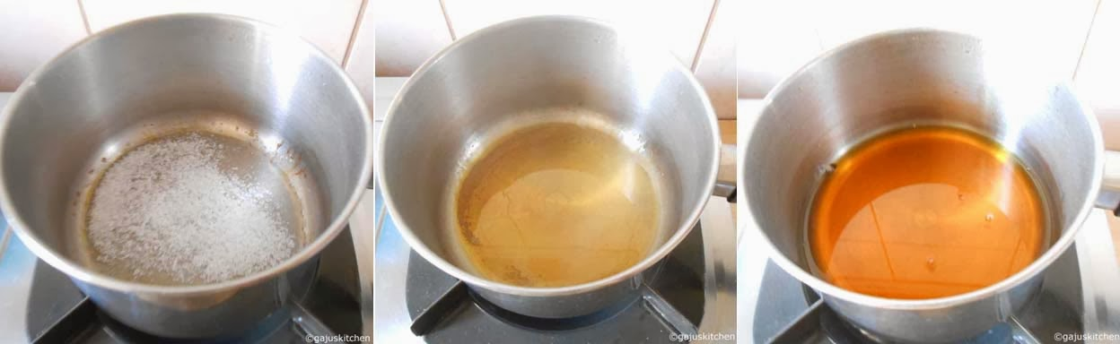 caramel preparation