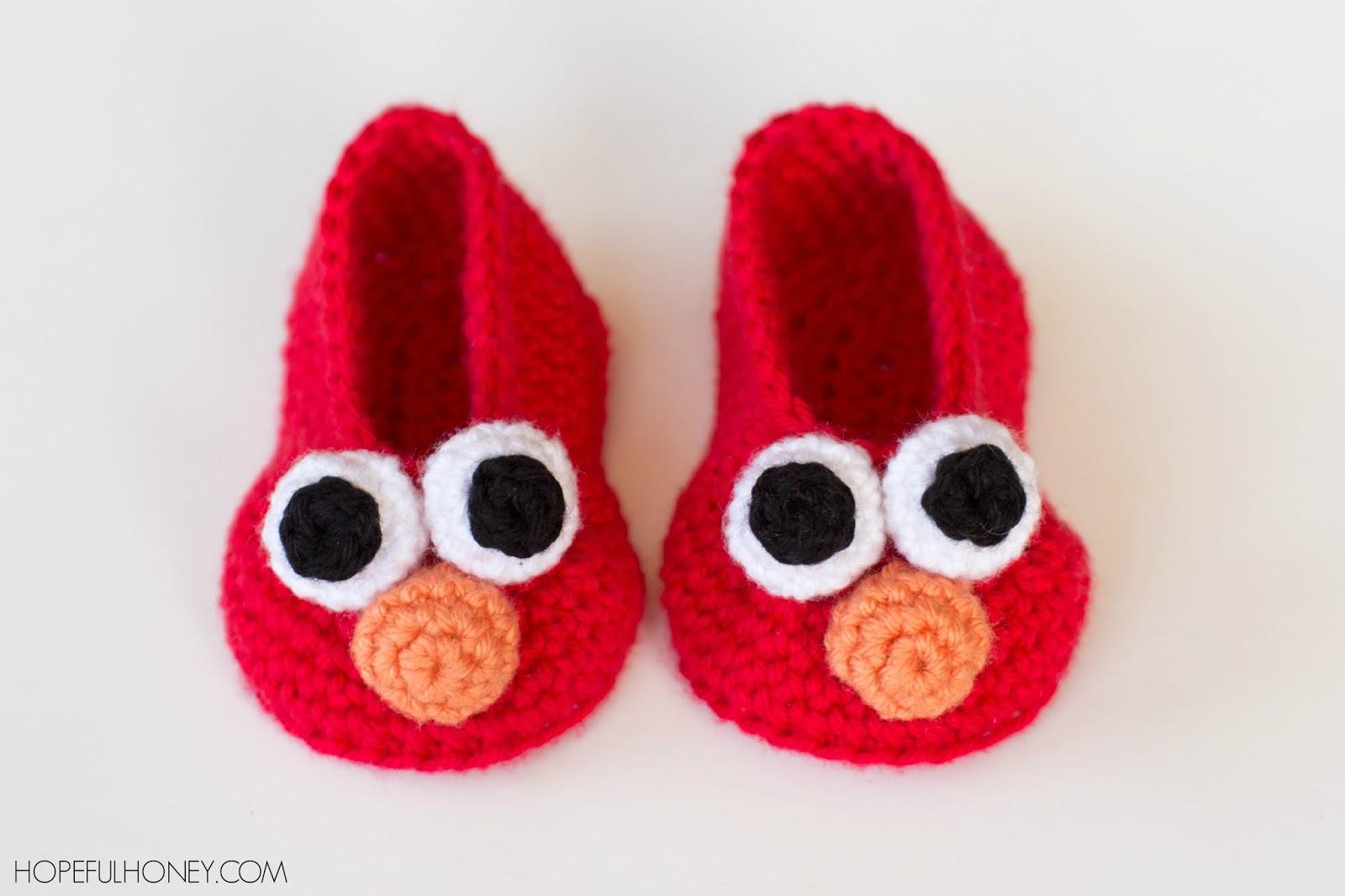 Elmo Inspired Baby Booties Interweave
