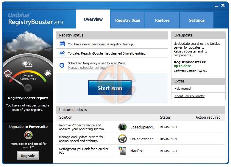 Uniblue Registry Booster 2013 6.1.0.9 Retail Full Version