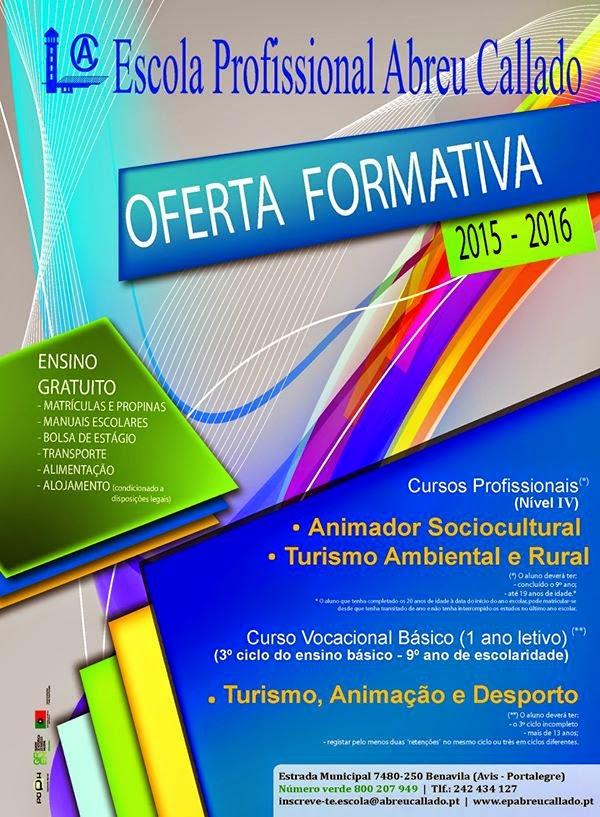 Cursos profissionais e vocacional em Avis (Portalegre) – Gratuitos