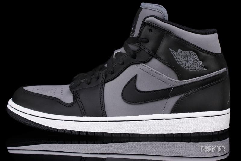 air jordan 1 grey and black