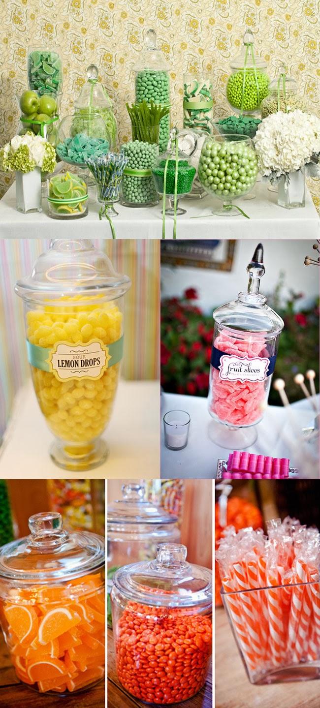 Lime, lemon, pink grapefruit, orange candy bar