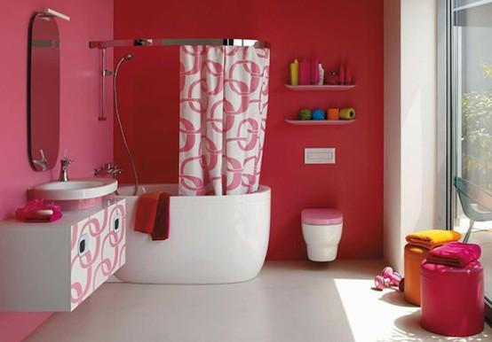 Baño Blanco Con Rojo:de color rojo y blanco o rojo y negro también hay combinaciones más