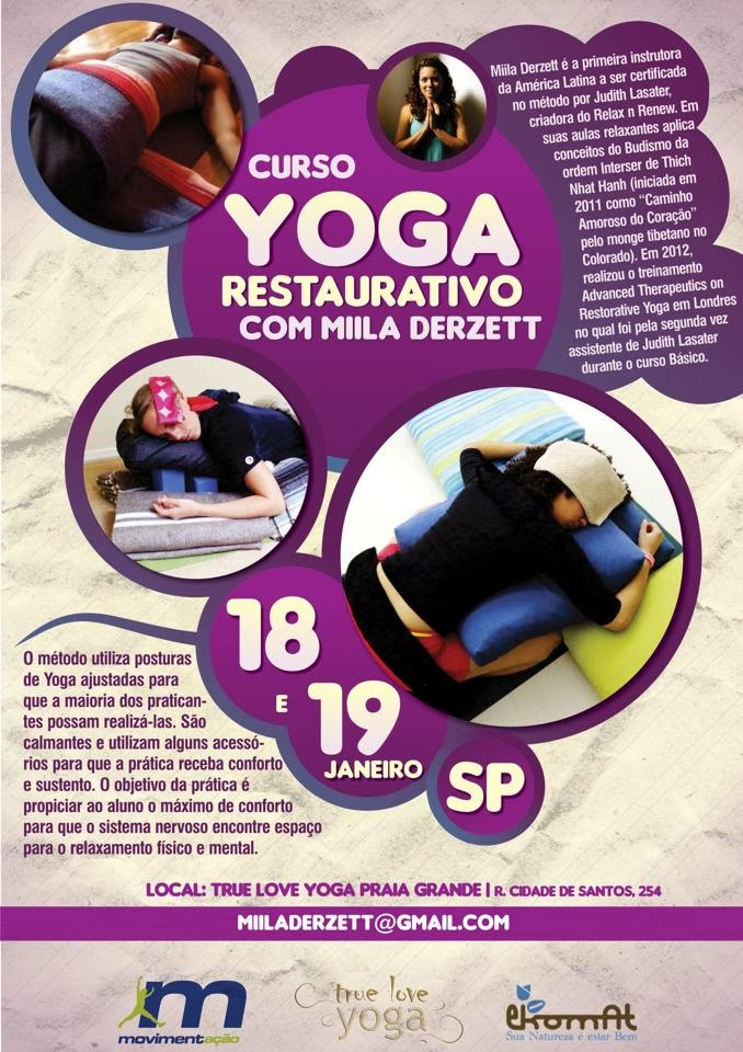 Curso Yoga Restaurativo com Miila Derzett