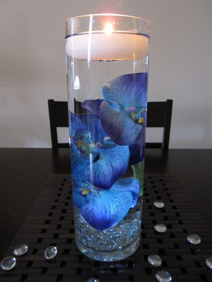 Curiosidades preciosos centros de mesa con velas flotantes for Centros de mesa faciles de hacer