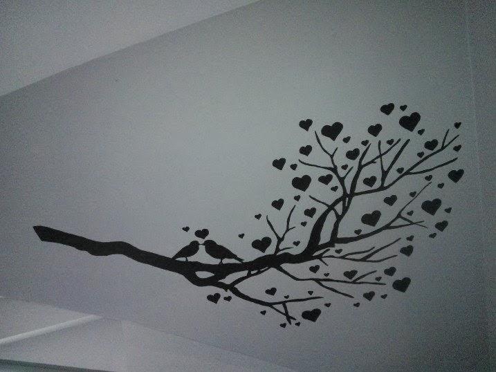 Muurschilderingen Slaapkamer : de bovenste foto is in de living