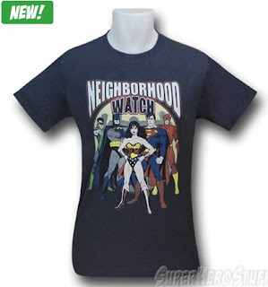 Click here to purchase Justice League Neighborhood Watch t-shirt from SuperHeroStuff!