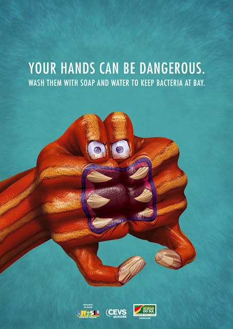 monster hands - hand color - creative ads