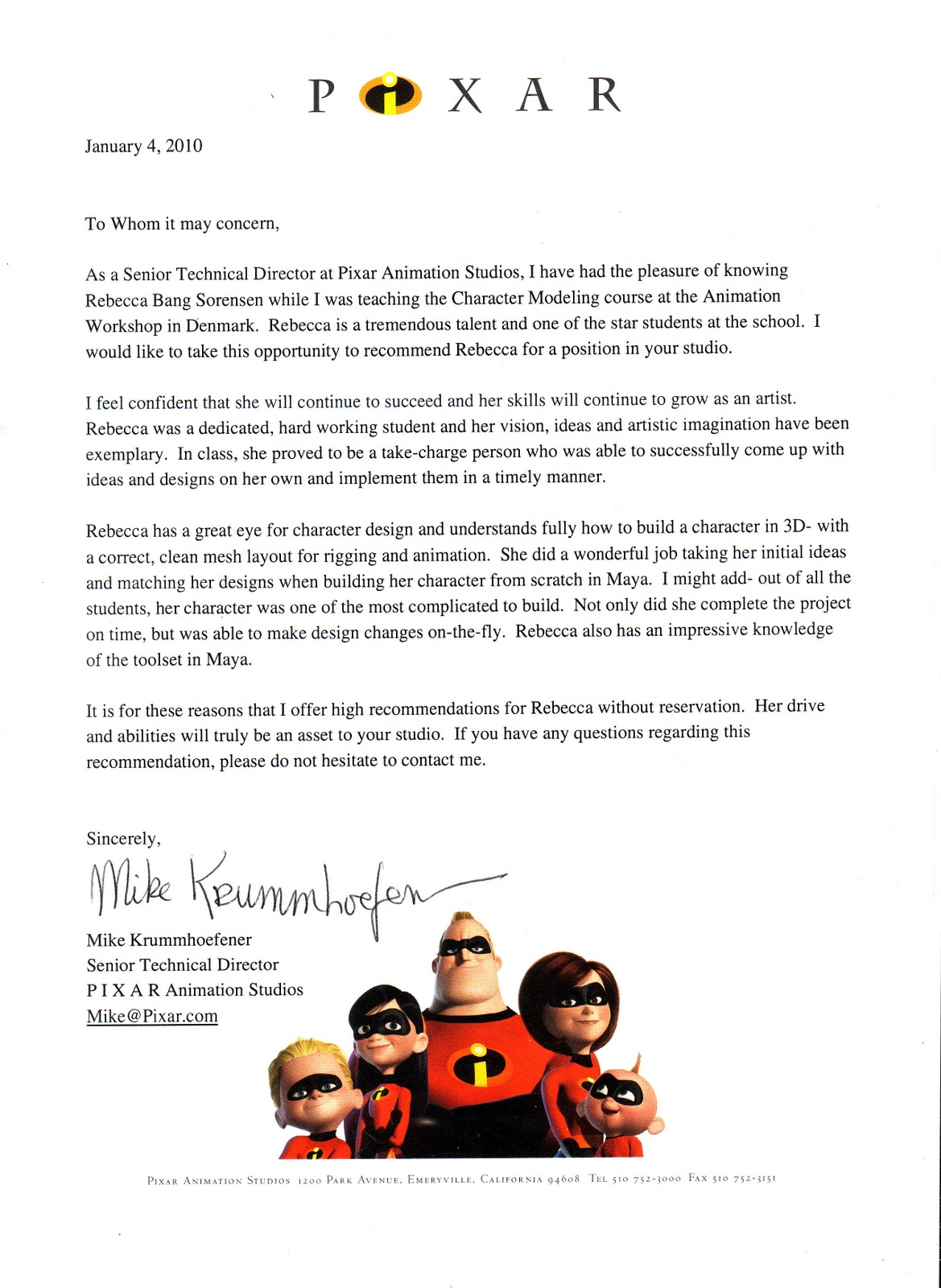 Brian moose pixar resume