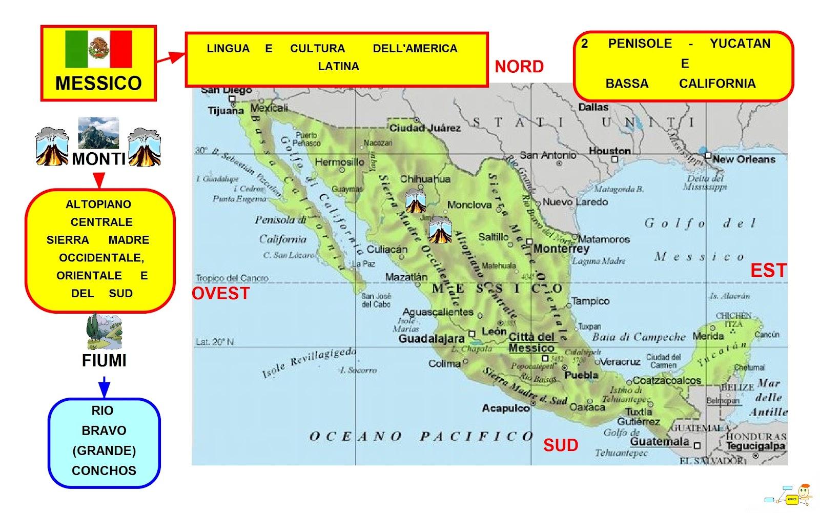 Mapper messico - Mappa messico mappa da colorare pagina ...