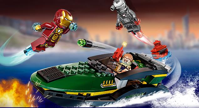 Sneak peek lego iron man 3 extremis sea port battle - Lego iron man extremis sea port battle ...