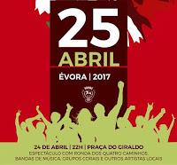 ÉVORA: CONCELHO EM FESTA COM O 25 DE ABRIL