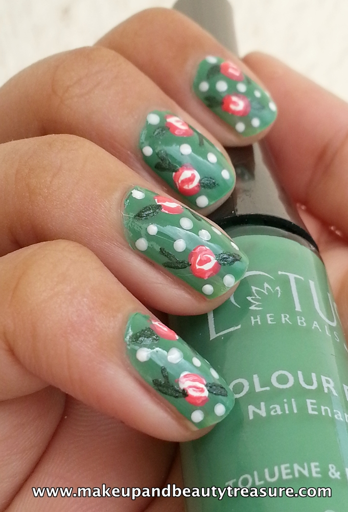 Rose Nail Art Tutorial  Makeup and Beauty Treasure